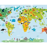 Ohpopsi the Whole Wide World Wall Mural Multi - 14.4m (L)
