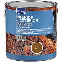 Wickes Woodstain - Warm Oak 2.5L