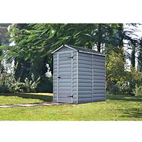 Palram Skylight Plastic Shed Grey - 4 x 6 ft