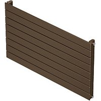 QRL Slieve Single Panel Horizontal Designer Radiator - Bronze 578 x 800 mm