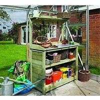 Rowlinson Timber Potting Station with Shelves - 3.4 x 1.7 ft