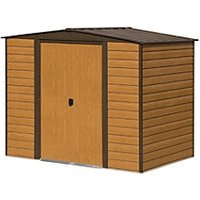 Rowlinson Woodvale Metal Apex Shed without Floor 8x6