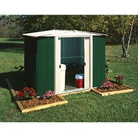 Rowlinson Metal Apex Shed without Floor - 8 x 6 ft