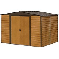 Rowlinson Woodvale Metal Apex Shed without Floor - 10 x 6 ft