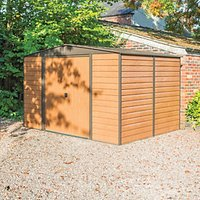 Rowlinson Woodvale Metal Apex Shed without Floor - 10 x 8 ft