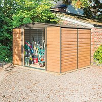Rowlinson Woodvale Metal Apex Shed with Floor - 10 x 8 ft