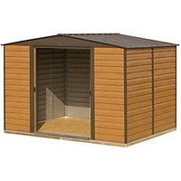 Rowlinson Woodvale Metal Apex Shed with Floor - 10 x 12 ft