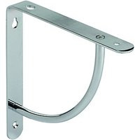 Wickes Decorative Bracket Chrome Finish 180x180mm
