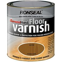 Ronseal Diamond Hard Floor Varnish - Dark Oak 2.5L