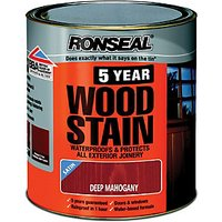 Ronseal 5 Year Woodstain - Deep Mahogany 2.5L