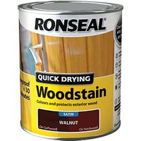 Ronseal Quick Drying Woodstain - Satin Walnut 750ml