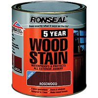 Ronseal 5 Year Woodstain - Rosewood 750ml