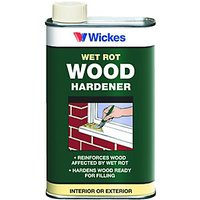 Wickes Wet Rot Wood Hardener 500ml