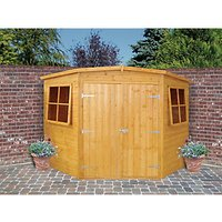 Wickes Double Door Timber Corner Shed - 8 x 8 ft