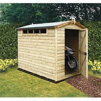 Wickes Security Timber Apex Shed With High Level Window - 6 x 10 ft