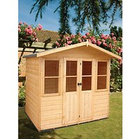Wickes Haddon Apex Double Door Dip Treated Summerhouse - 7 x 5 ft