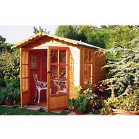 Wickes Apex Double Door Dip Treated Buckingham Summerhouse - 7 x 7 ft