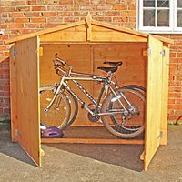 Wickes Shiplap Timber Bike Store Without Floor Honey Brown - 7 x 3 ft