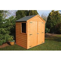 Wickes Double Door Timber Shiplap Apex Shed - 6 x 4 ft