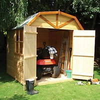 Wickes Barn Curved Roof Double Door Garden Shed - 7 x 7 ft