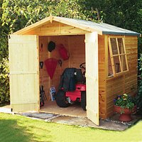 Wickes Double Door Timber Shiplap Apex Shed - 7 x 7 ft