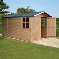 Wickes Double Door Timber Shiplap Apex Shed - 7 x 13 ft