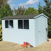 Wickes Easy Assembly Timber Shiplap Apex Shed - 10 x 10 ft