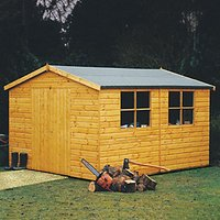 Shire Bison Shiplap Double Door Timber Workshop - 10 x 16 ft