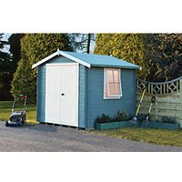 Shire Bradley Double Door Log Cabin - 10 x 10 ft - With Assembly