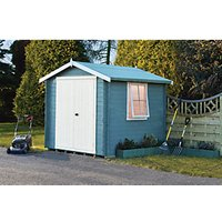 Shire Bradley Double Door Log Cabin - 8 x 8 ft  - With Assembly