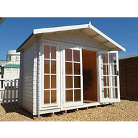 Shire Epping Double Door Log Cabin - 10 x 12 ft - With Assembly