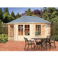 Shire Leygrove & Rowney Double Door Corner Log Cabin - 10 x 14 ft - Assembly