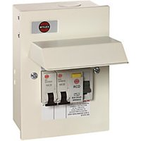 Wylex 2 Way Garage Unit with 1 x 63A RCD 1 x 16A MCB 1 x 6A MCB GB6:WKNMRS20663gWU
