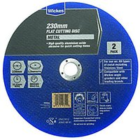 Wickes Metal Flat Cutting Disc 230mm Pack 2