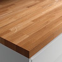 Wickes Worktop Solid Oak 3000 x 600 x 26 mm
