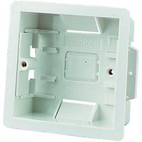 Wickes Dry Lining Box 1 Gang White 6 Pack