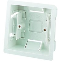 Wickes Plasterboard Box 1 Gang White