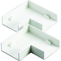 Wickes Mini Trunking Flat Angle White 38x16mm 2 Pack