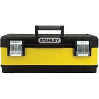 Stanley 1-95-613 Yellow Metal & Plastic Toolbox 23in