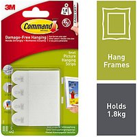 Command Small Picture Hanging Strips White