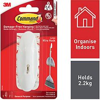 Command Large Wire Hook White