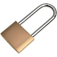 Wickes Padlock Long Shackle Brass 50mm