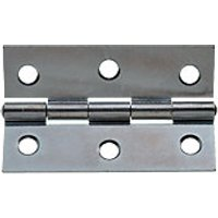 Wickes Butt Hinge Zinc Plated 76mm 2 Pack
