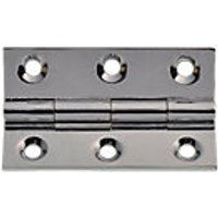 Wickes Butt Hinges Solid Brass Chrome Plated 51mm 2 Pack