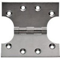 Wickes Parliament Hinge Satin Chrome Finish 102mm 2 Pack