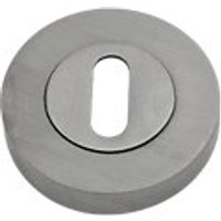 Keyhole Escutcheon Satin Nickel 53mm