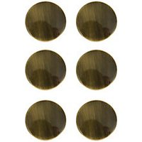 Wickes Victorian Knobs Antique Brass Effect 38mm 6 Pack