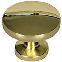 Wickes Victorian Knobs Polished Brass Finish 30mm 6 Pack