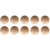 Wickes Unvarnished Pine Ring Knobs 35mm 10 Pack