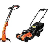 Worx Lawnmower and Trimmer Set